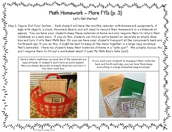 Math Homework Activities for the Entire Year (2nd Grade)