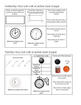 Math Homework Board 3