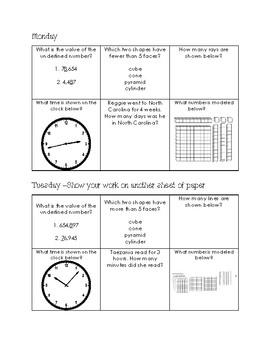 Math Homework Board 5