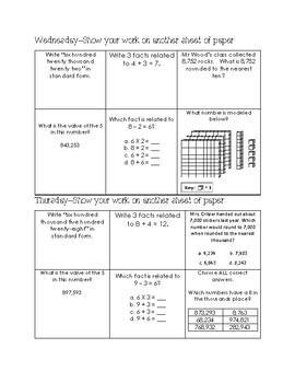 Math Homework Board 7