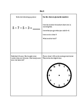 Math Homework/Extra Practice Problems