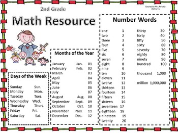 Math Homework Folder Resource