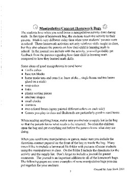 Math Homework Folders - Common Core Friendly