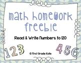 Read & Write Numbers {Freebie}