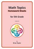 Math Homework Grade 5