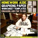 Math Homework: Graphing Worksheet Templates