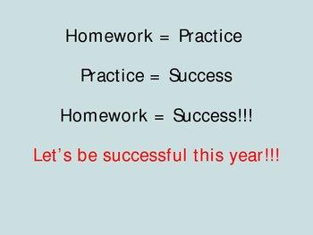 Math Homework Guidelines