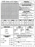 Homework Helper: Math Reference Sheet for 4th grade