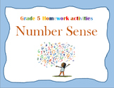 Number Sense Grade 5 full homework/worksheet pack