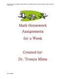 Math Homework Numbers in Base Ten