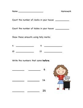 Math Homework Packet