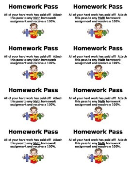 Math Homework Pass {FREE}
