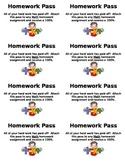 Math Homework Pass {FREEBIE}