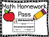 Math Homework Pass