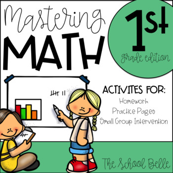 Math Homework, Practice, and Review For All Year Long! (1st Grade Edition)