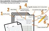 Math Homework - Proper Format Template