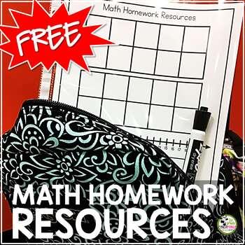 Math Homework Resource FREEBIE