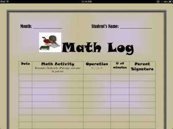 Math Homework Response Log
