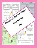 Math Homework Review