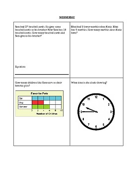 Math Homework/Review/Morning Work Packet (2nd and 3rd grade)