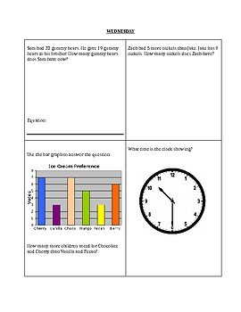 Math Homework/Review packet (2nd and 3rd grade)