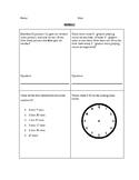 Math Homework/Review packet (2nd and 3rd grade)
