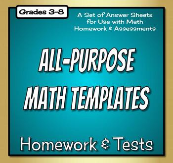 Math Homework Templates