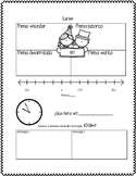 Math Homework [Weekly Sample] Spanish version.