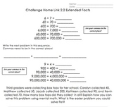 Math Homework Worksheets: Addition, Subtraction, Number Stories - Everyday Math