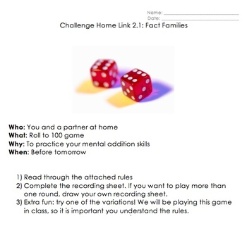 Math Homework Worksheets: Addition, Subtraction, Number Stories - Everyday Math