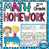 Second Grade Math Homework with Digital Option for Distanc