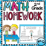 Second Grade Math Homework - 4th Quarter