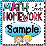Math Homework for 2nd Grade - Free Sample