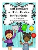 Math Homework for First Grade