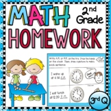 Second Grade Math Homework - 3rd Quarter