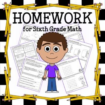 Homework for Sixth Grade Math