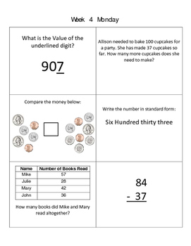 Math Homework for Third Grade Standards
