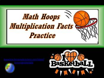 Math Hoops Multiplication Facts Practice