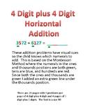 Math---Horizontal Addition Problems