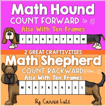 Math Hound and Math Shepherd Counting Activities/Craftivities