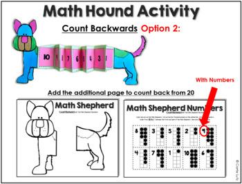 Math Hound and Math Shepherd Counting Activities/Craftivities to 20
