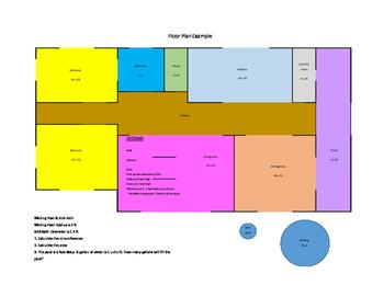 Floor Plan Math Project Worksheets Teachers Pay Teachers