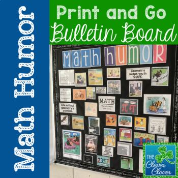 Math Humor Bulletin Board - Banner ONLY!