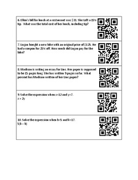 Math Hunt with QR Codes