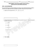 Math I/Algebra 1 End of Course (EOC) Practice Test No. 2 (