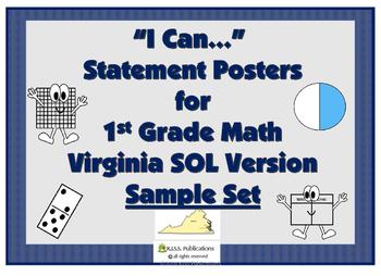 Math I Can...Sample Set for VA SOL 1st Grade