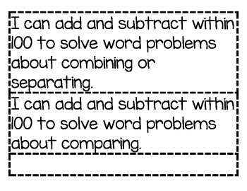 Math I Can Statements