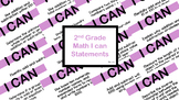 Math I Can Statements - 2nd Grade Common Core