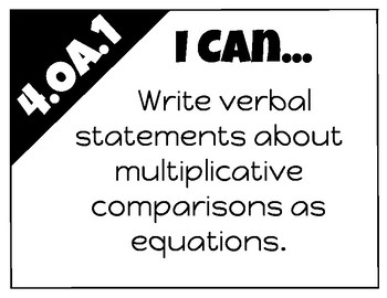 Math I-Can Statements 4th Grade