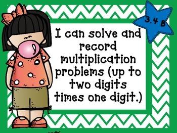 Math I Can Statements Data Wall 3rd Grade TEKS